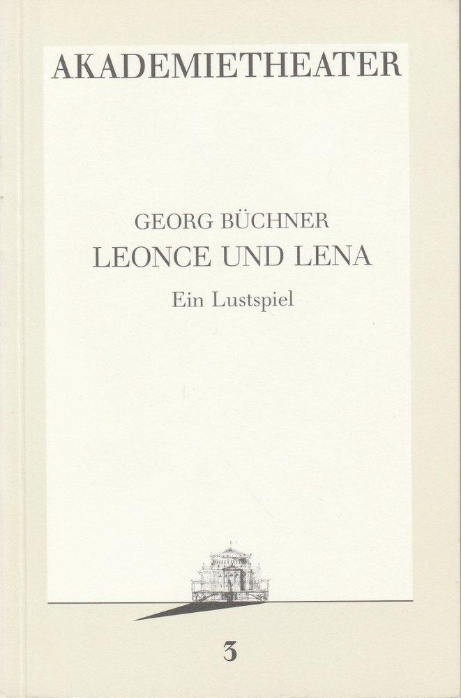 Programmheft LEONCE UND LENA Burgtheater Wien 1986