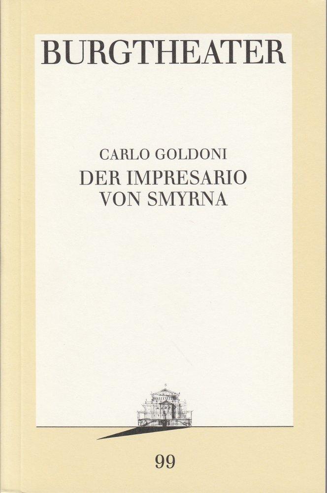 Programmheft Der Impressario von Smyrna Burgtheater Wien 1992