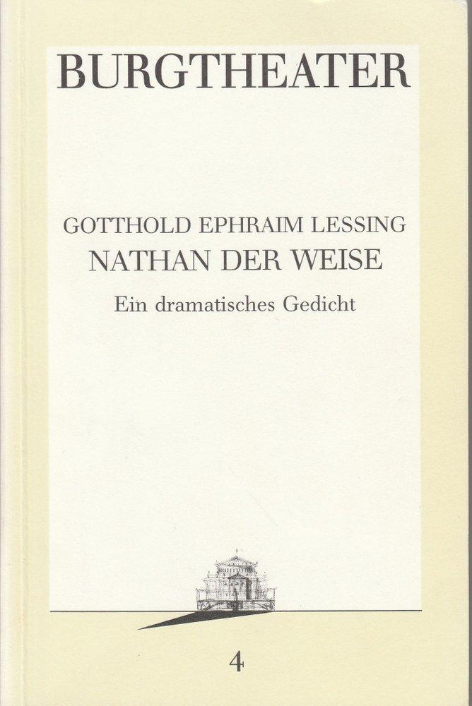 Programmheft NATHAN DER WEISE Burgtheater Wien 1986
