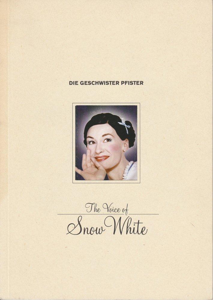 Programmheft The Voice of Snow White. Show der Geschwister Pfister 1999