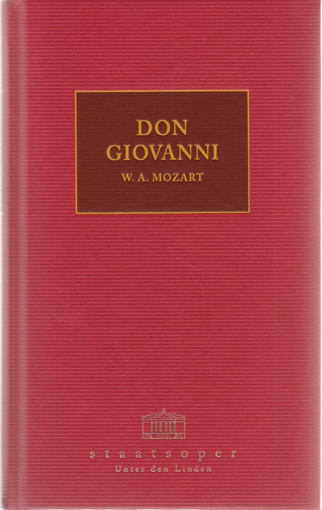 Programmheft Mozart DON GIOVANNI Staatsoper unter den Linden 2000