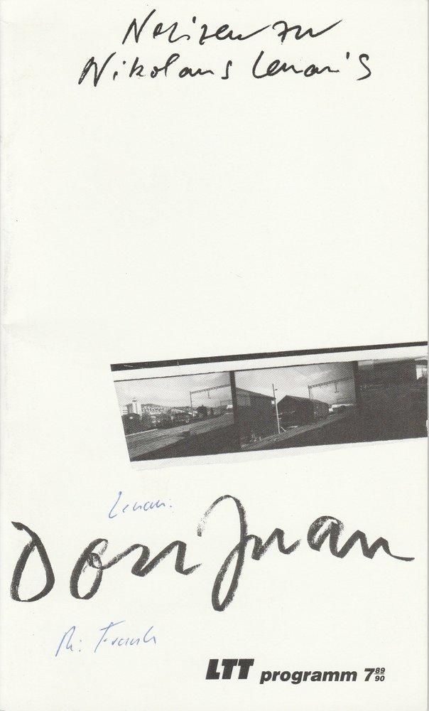 Programmheft Uraufführung Don Juan von Nikolaus Lenau LTT 1990