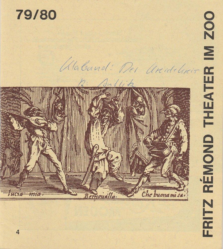Programmheft DER KREIDEKREIS von KLABUND Fritz Remond Theater im Zoo1979