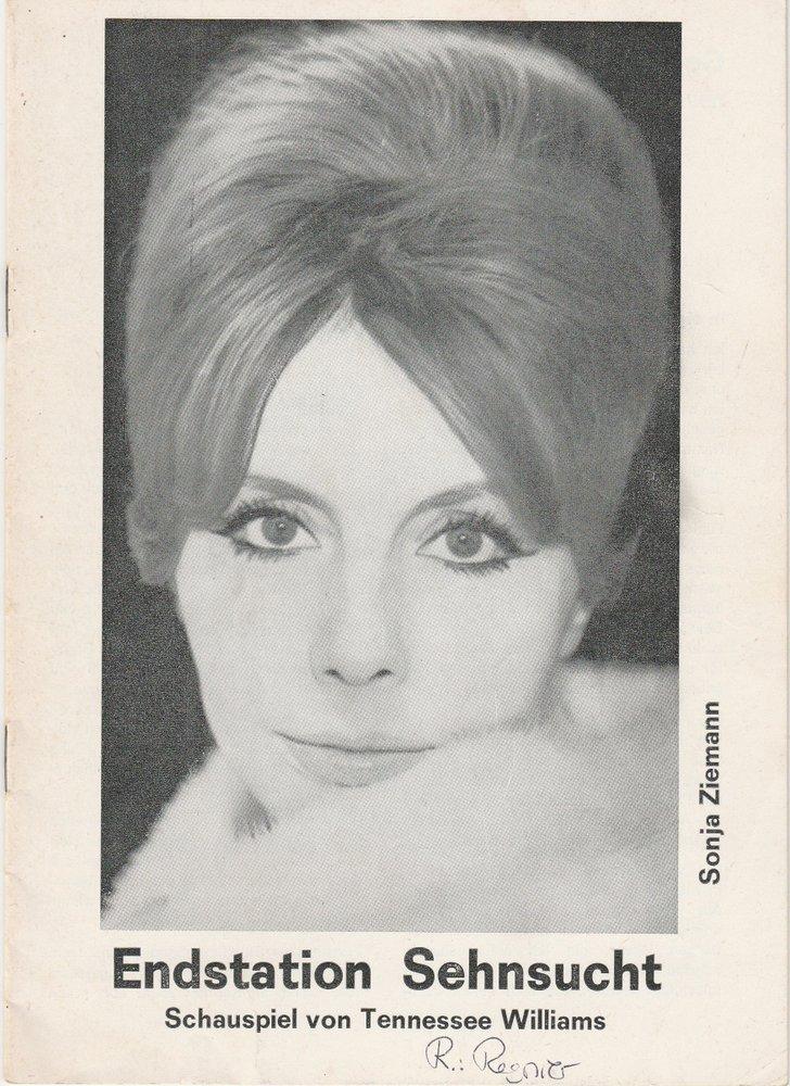 Programmheft ENDSTATION SEHNSUCHT Schweizer Tournee Theater 1972