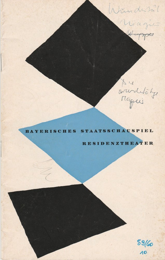 Programmheft Don Pedro Calderon de la Barca DER WUNDERTÄTIGE MAGIER 1960
