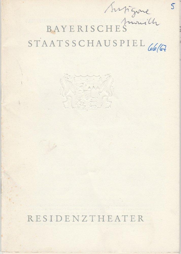 Programmheft  Jean Anouihl ANTIGONE Residenztheater 1966
