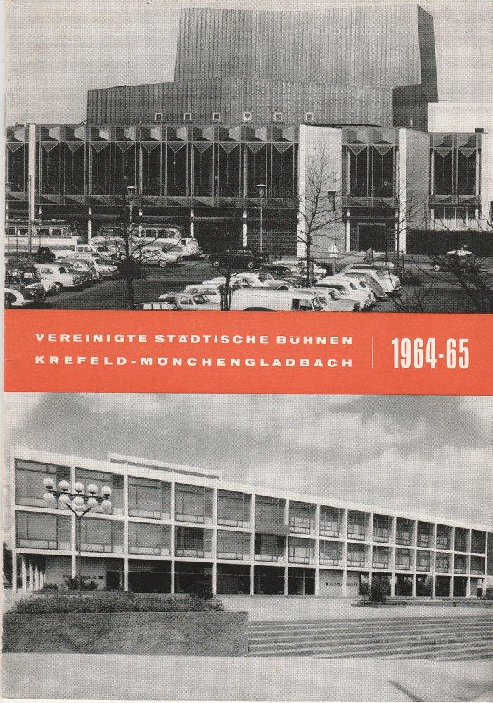 Programmheft Shakespeare DER KAUFMANN VON VENEDIG Bühnen Krefeld 1964
