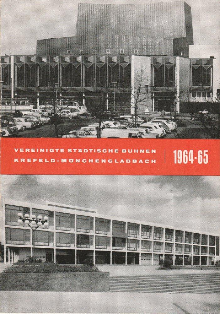 Programmheft George Bernard Shaw DIE HEILIGE JOHANNA Bühnen Krefeld 1965