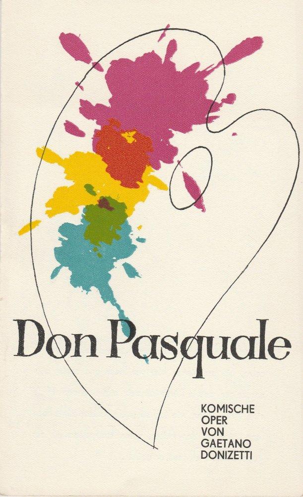 Programmheft Gaetano Donizetti DON PASQUALE Landesbühnen Sachsen 1972