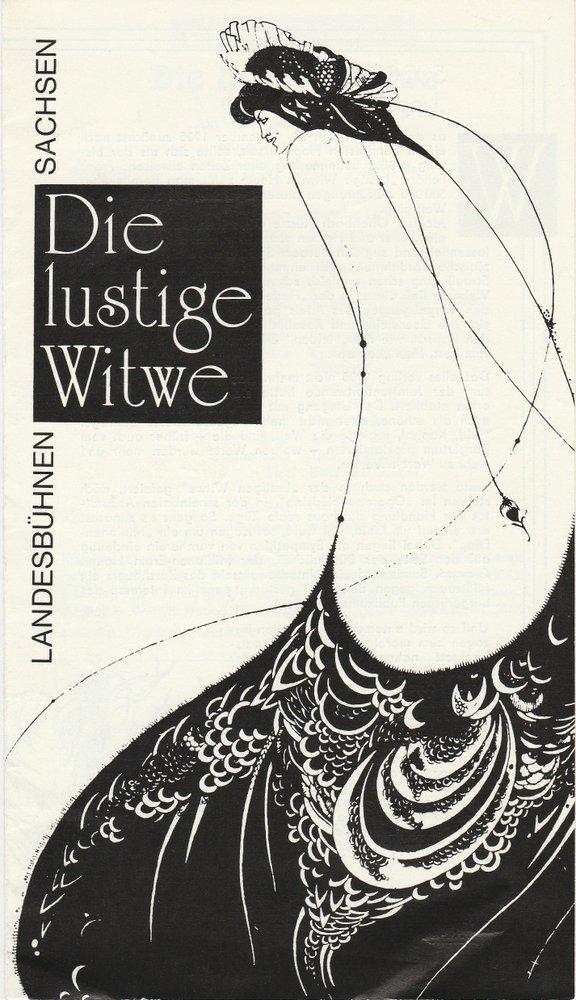 Programmheft Franz Lehar DIE LUSTIGE WITWE Landesbühnen Sachsen 1990