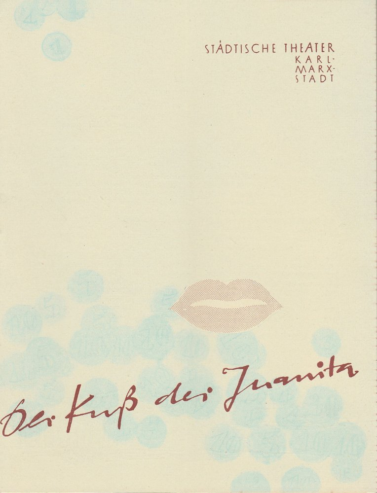 Programmheft Juri Miljutin DER KUß DER JUANITA Theater Karl-Marx-Stadt 1960