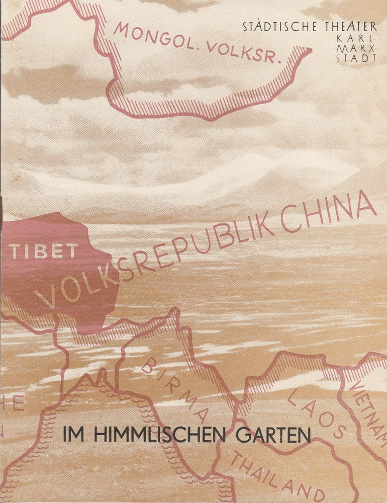 Programmheft Urauff. H. Hauser IM HIMMLISCHEN GARTEN Theat. Karl-Marx-Stadt 1958