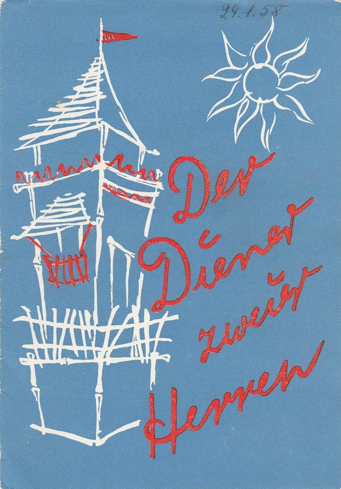 Programmheft Carlo Goldoni DER DIENER ZWEIER HERREN Stadttheater Zittau 1957
