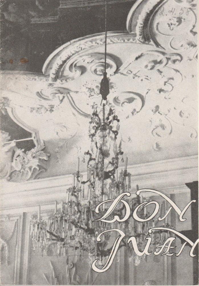 Programmheft Wolfgang Amadeus Mozart DON JUAN Stadttheater Zittau 1958