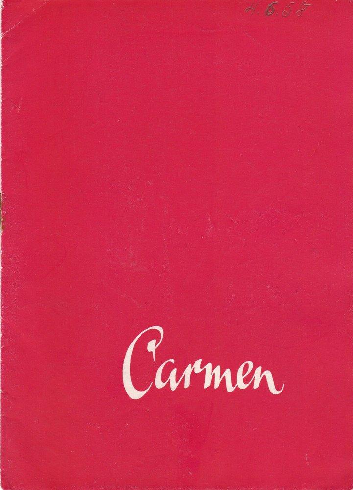 Programmheft Georges Bizet CARMEN Stadttheater Zittau 1958
