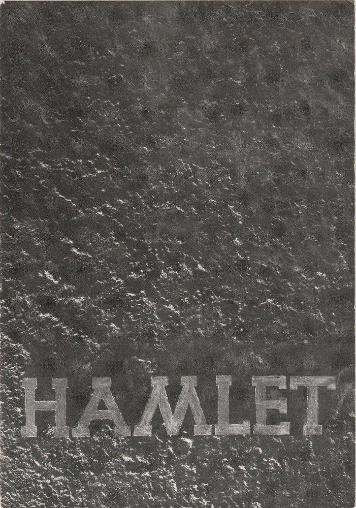 Programmheft William Shakespeare HAMLET Stadttheater Zittau 1958