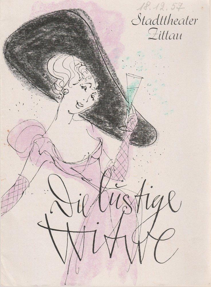 Programmheft Franz Lehar DIE LUSTIGE WITWE Stadttheater Zittau 1957