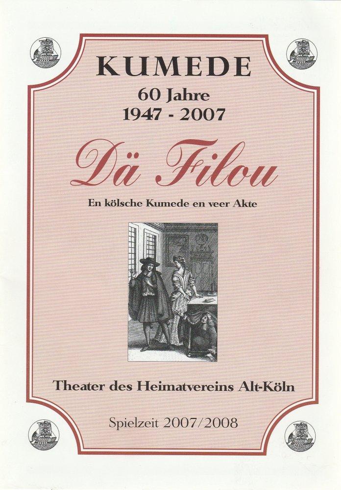 Programmheft Hermann Hertling DÄ FILOU KumedeTheater 2007