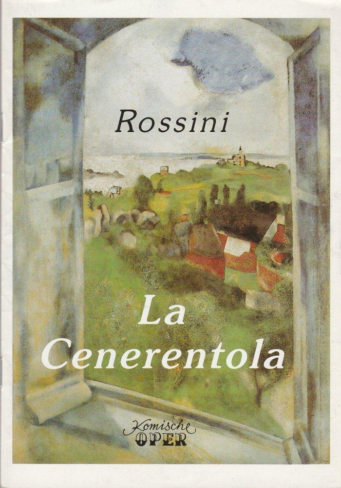 Programmheft Gioacchino Rossini LA CENERENTOLA Komische Oper 1994