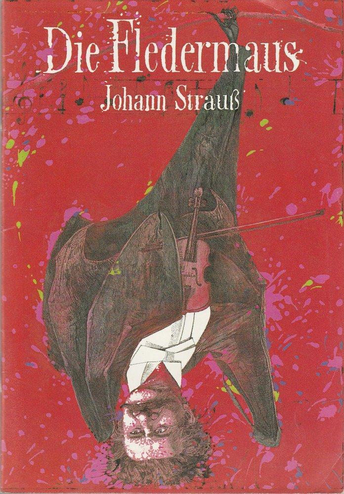 Programmheft Johann Strauß DIE FLEDERMAUS Komische Oper 1995