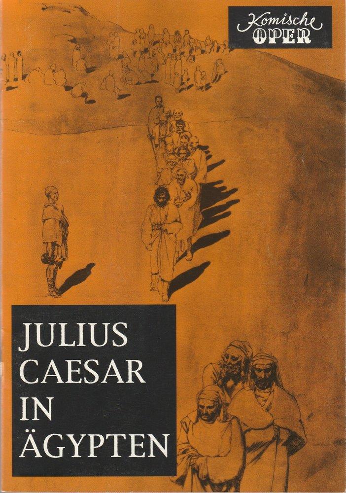 Programmheft Georg Friedrich Händel JULIUS CAESAR IN ÄGYPTEN Komische Oper 1993