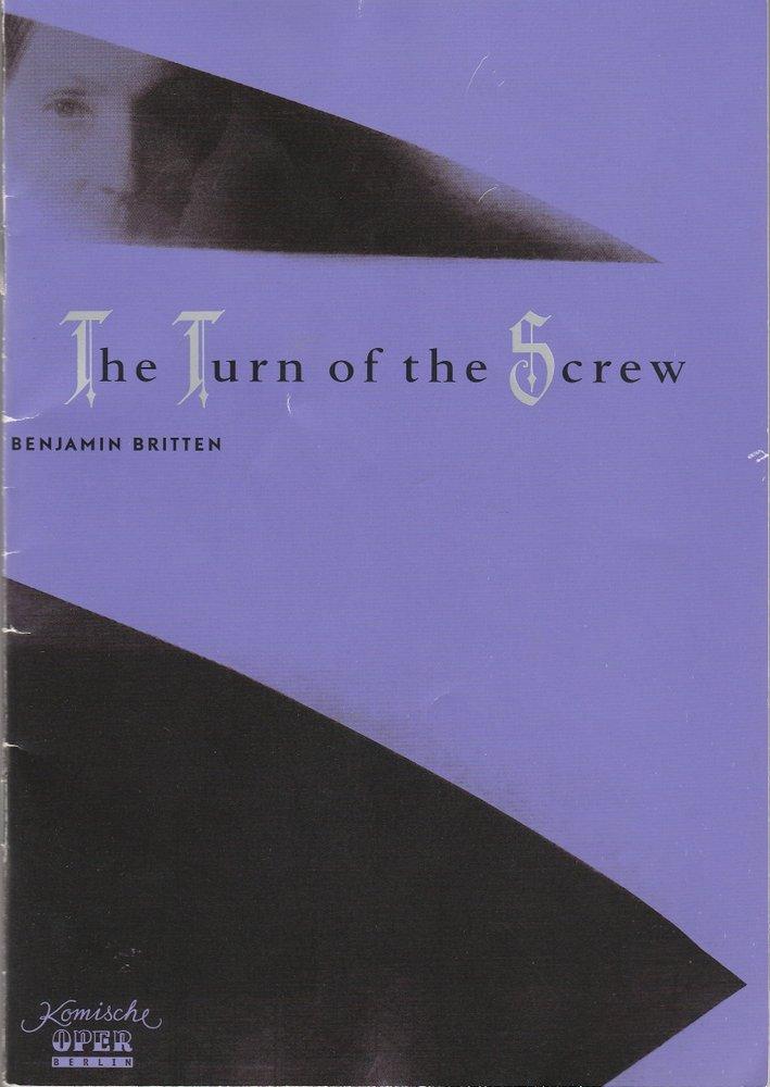 Programmheft Benjamin Britten THE TURN OF THE SCREW Komische Oper Berlin 2002