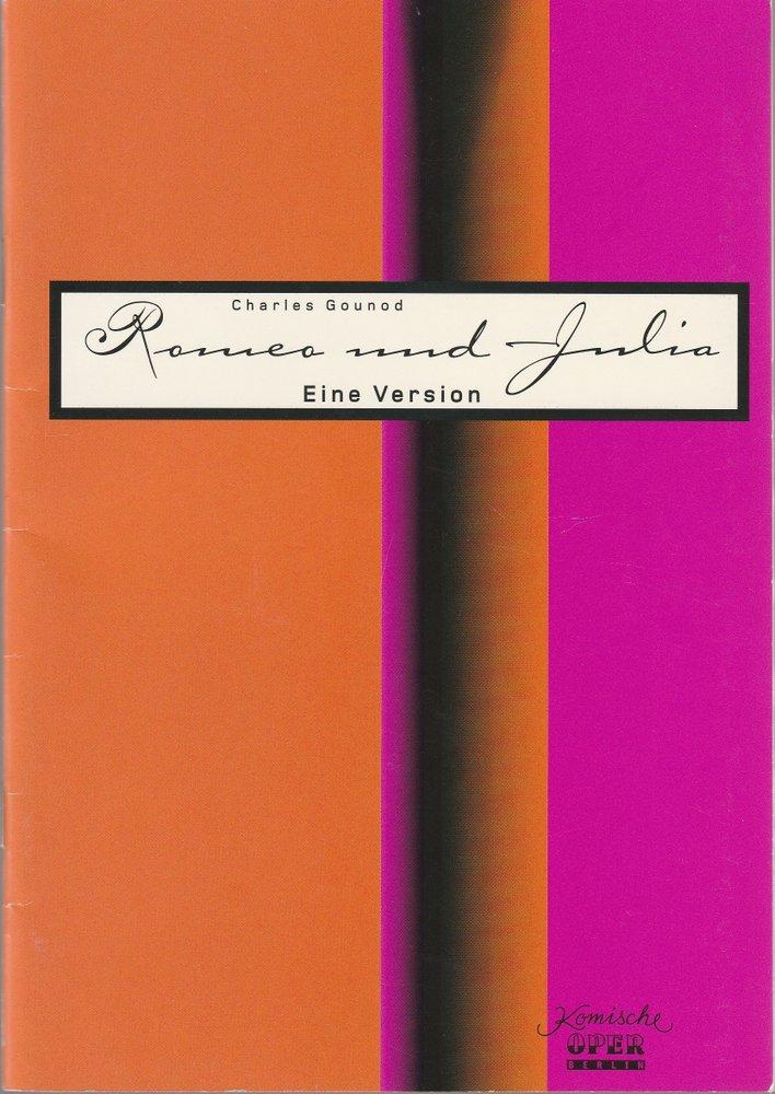 Programmheft Charles Gounod ROMEO UND JULIA Komische Oper Berlin 2001