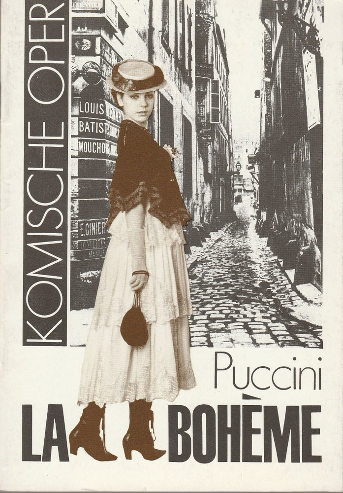 Programmheft  Giacomo Puccini LA BOHEME Komische Oper 1982