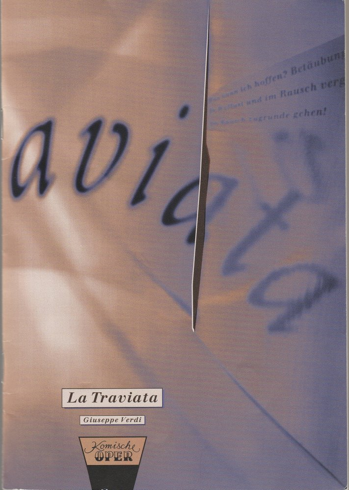 Programmheft Giuseppe Verdi LA TRAVIATA Komische Oper 1994