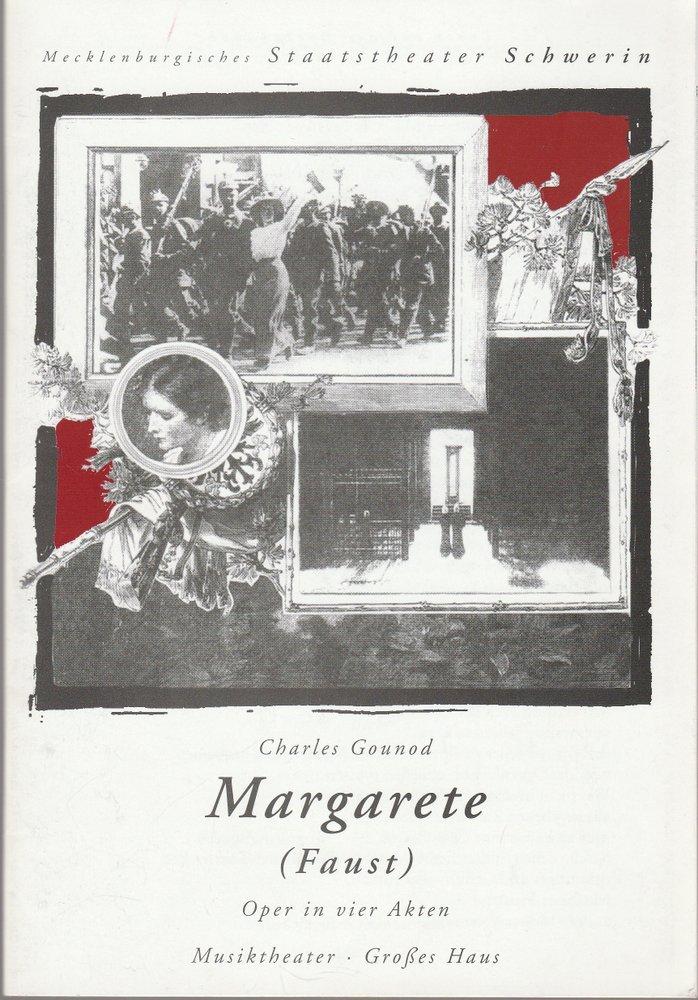 Programmheft Charles Gounod MARGARETE ( FAUST ) Staatstheater Schwerin 1995