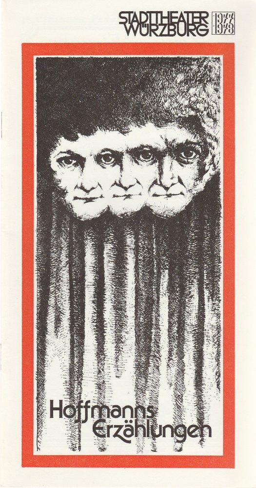 Programmheft Jacques Offenbach HOFFMANNS ERZÄHLUNGEN Stadttheater Würzburg 1978
