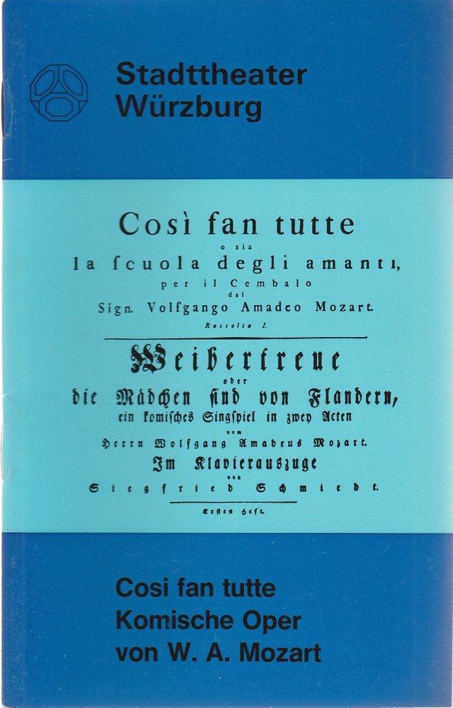 Programmheft Wolfgang Amadeus Mozart COSI FAN TUTTE Stadttheater Würzburg 1973