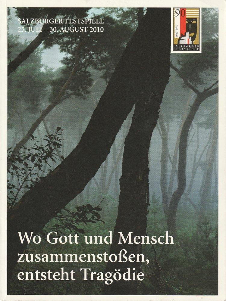 Programmheft Programm Salzburger Festspiele 25. Juli - 30. August 2010 Magazin