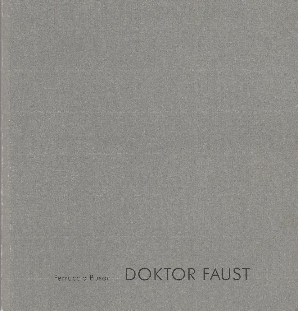 Programmheft Ferruccio Busoni: DOKTOR FAUST. Salzburger Festspiele 1999