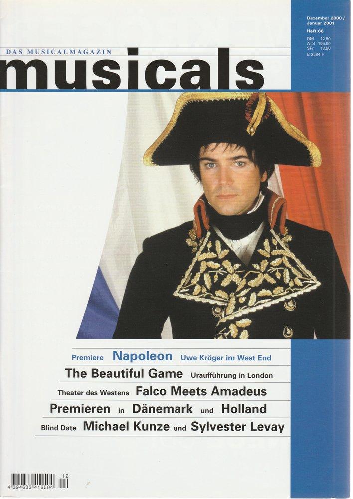 musicals Das Musicalmagazin Dezember 2000 / Januar 2001 Heft 86