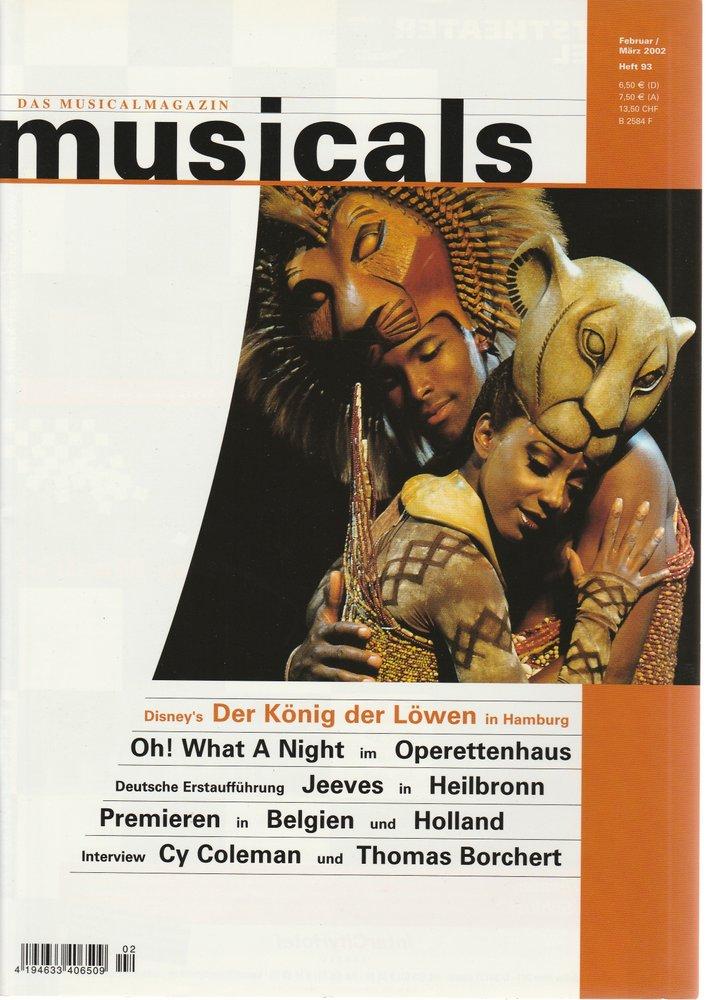musicals Das Musicalmagazin Februar / März 2002 Heft 93
