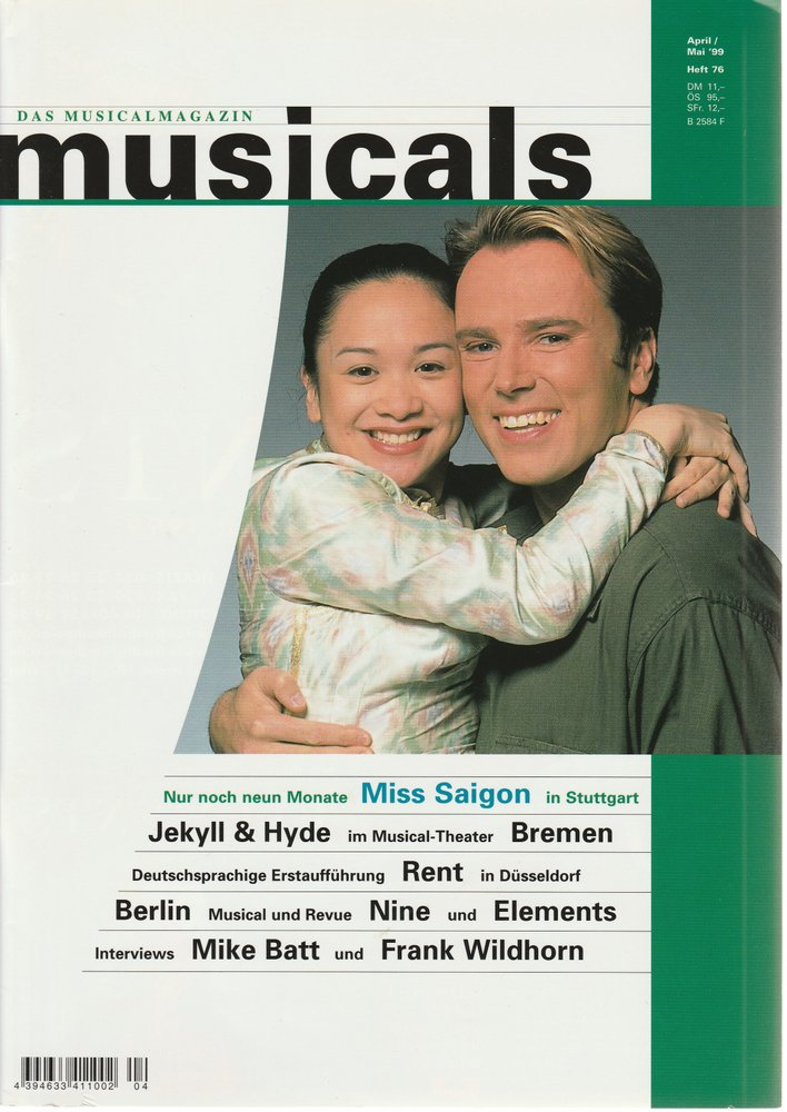 musicals Das Musicalmagazin April / Mai 1999 Heft 76