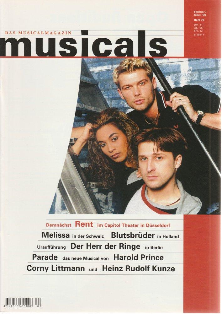 musicals Das Musicalmagazin Februar / März 1999 Heft 75