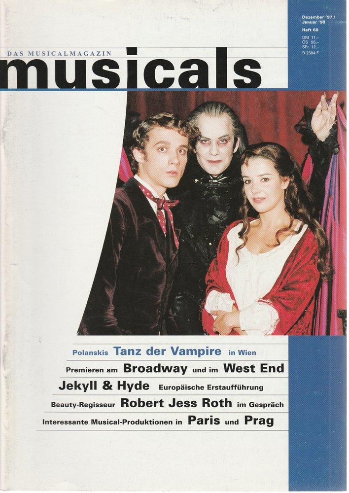 musicals Das Musicalmagazin Dezember 1997 / Januar 1998 Heft 68