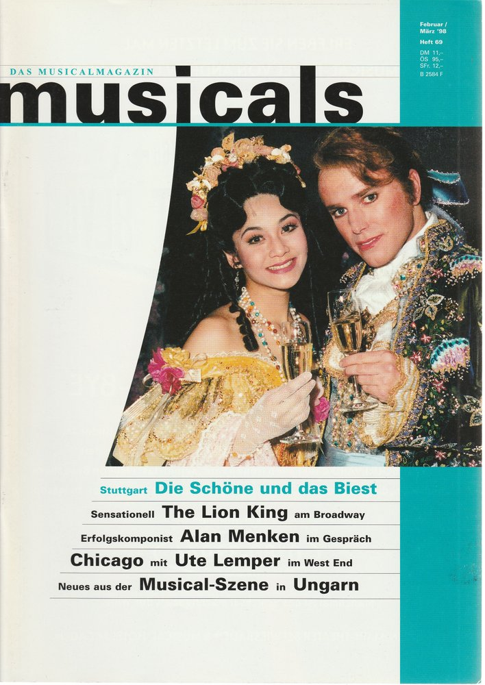 musicals Das Musicalmagazin Februar / März 1998 Heft 69