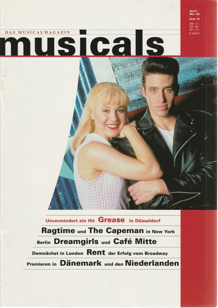 musicals Das Musicalmagazin April / Mai 1998 Heft 70