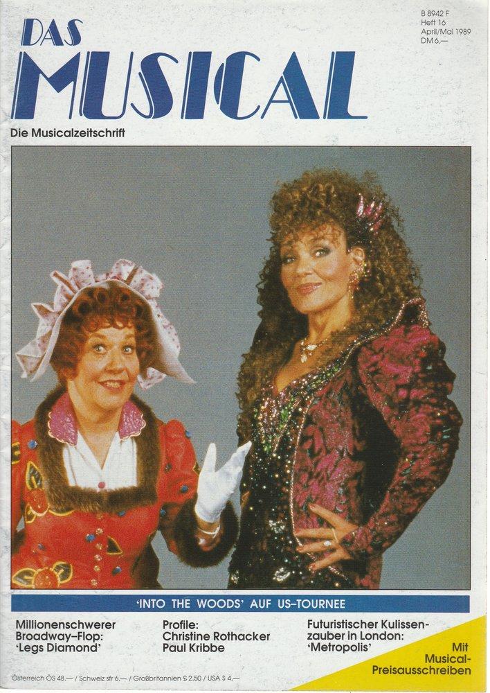 Das Musical. Die Musicalzeitschrift Heft 16 April / Mai 1989