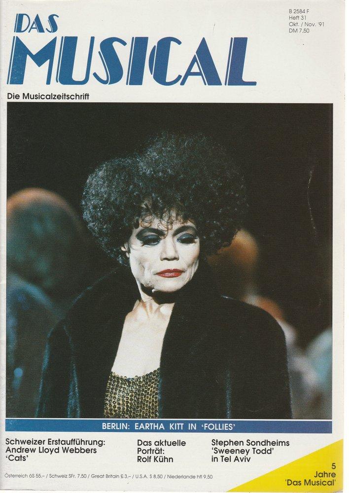 Das Musical. Die Musicalzeitschrift Heft 31 Oktober / November 1991