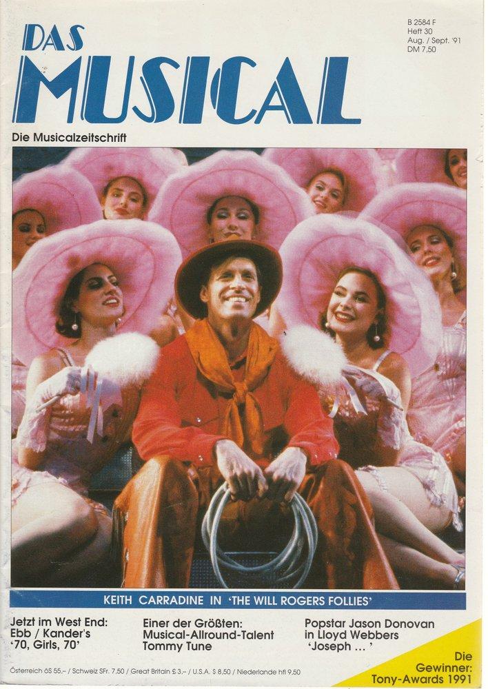 Das Musical. Die Musicalzeitschrift Heft 30 August / September 1991