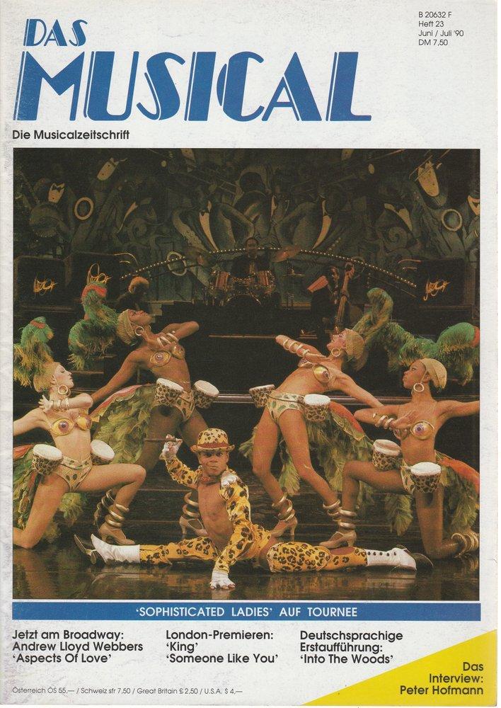 Das Musical. Die Musicalzeitschrift Heft 23 Juni / Juli 1990