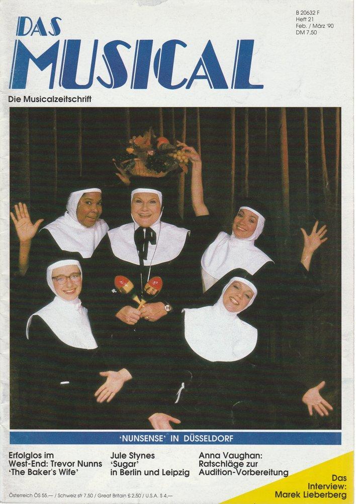 Das Musical. Die Musicalzeitschrift Heft 21 Februar / März 1990