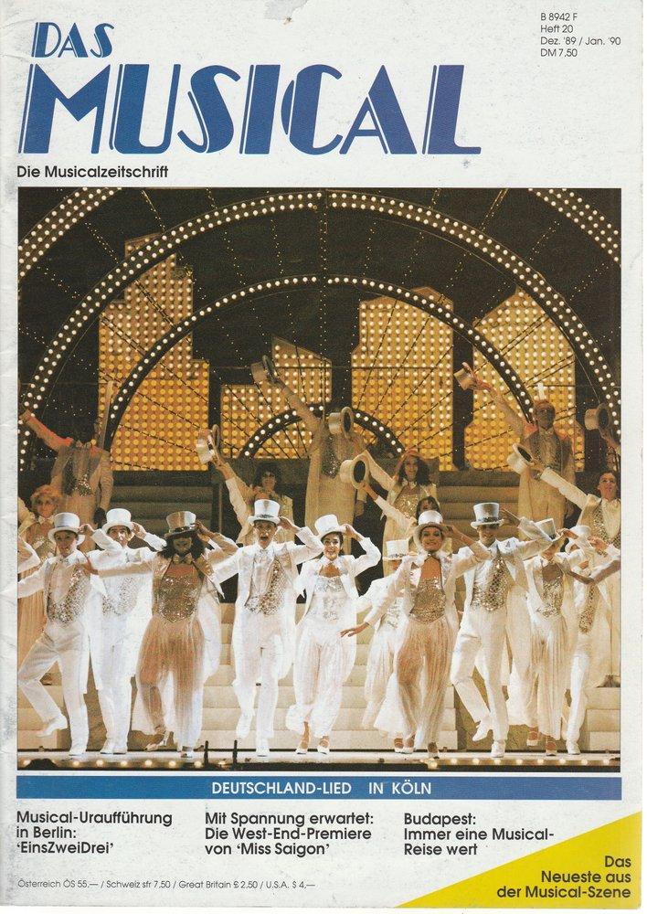 Das Musical. Die Musicalzeitschrift Heft 20 Dezember 1989 / Januar 1990