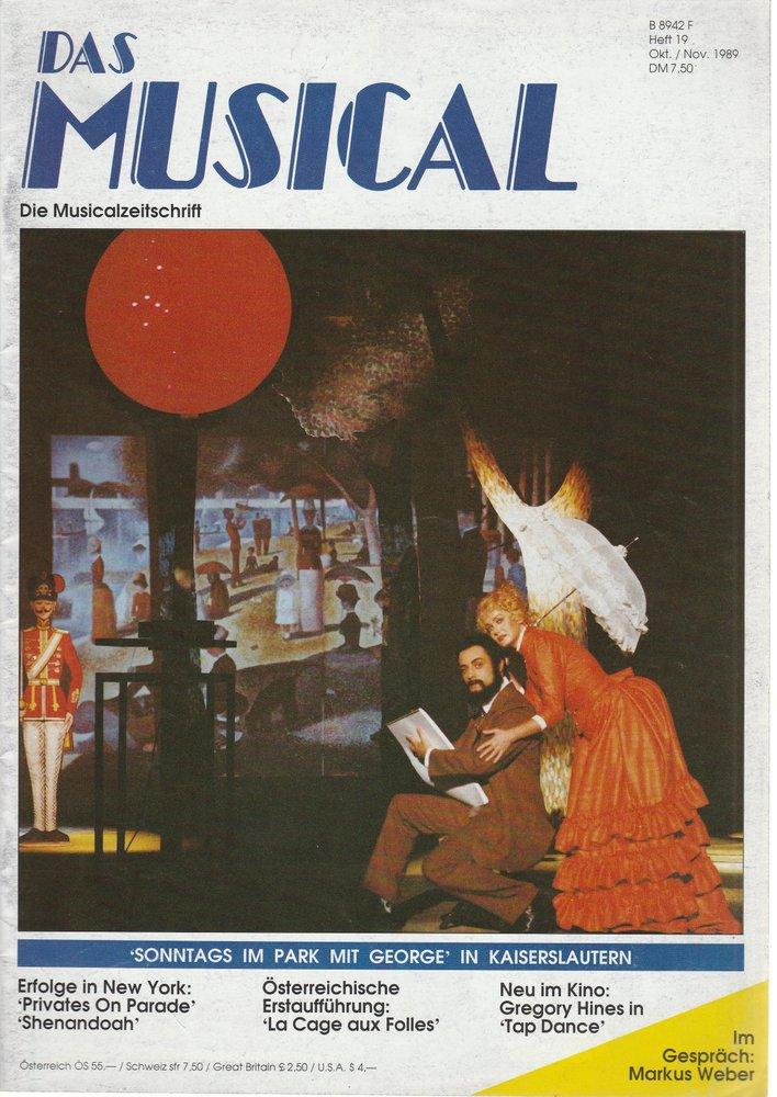 Das Musical. Die Musicalzeitschrift Heft 19 Oktober / November 1989