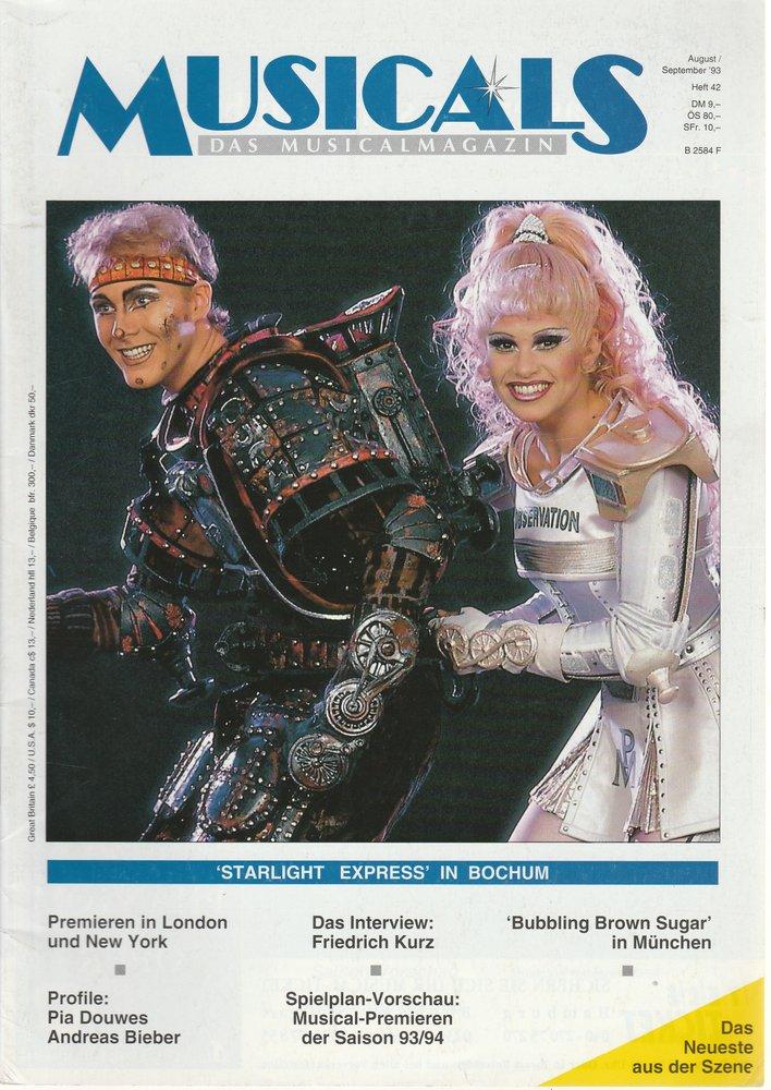 MUSICALS Das Musicalmagazin Heft 42 August / September 1993