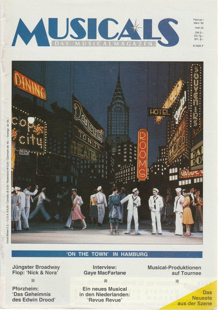 MUSICALS Das Musicalmagazin Heft 33 Februar / März 1992